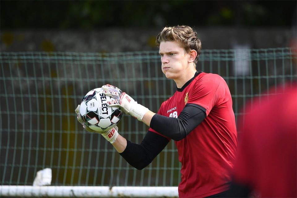 Arno Valkenaers donderdag op de eerste trainingsdag van KV Mechelen.