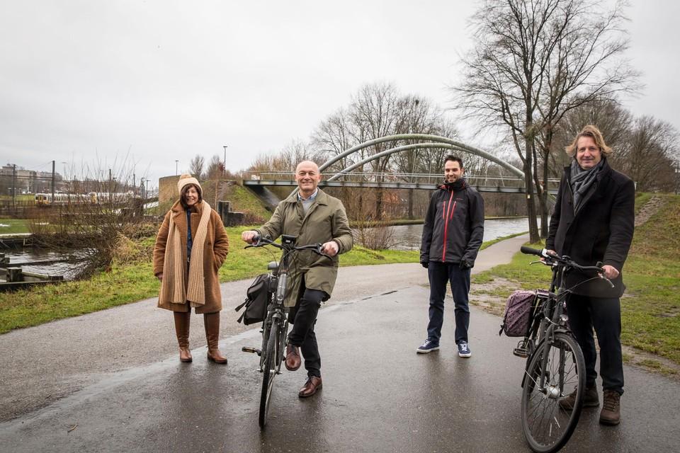 De vier schepenen van het regionaalstedelijk gebied Turnhout werken samen aan een gemeenschappelijk mobiliteitsplan dat meer ruimte moet bieden aan de zwakke weggebruiker.