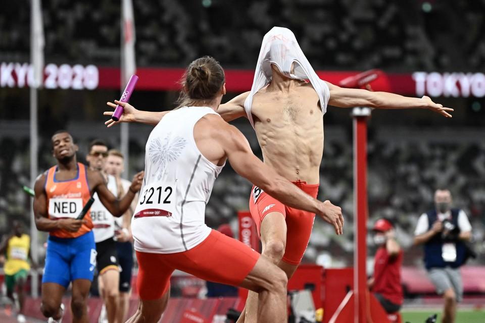 De Polen waren door het dolle heen met hun olympische titel.