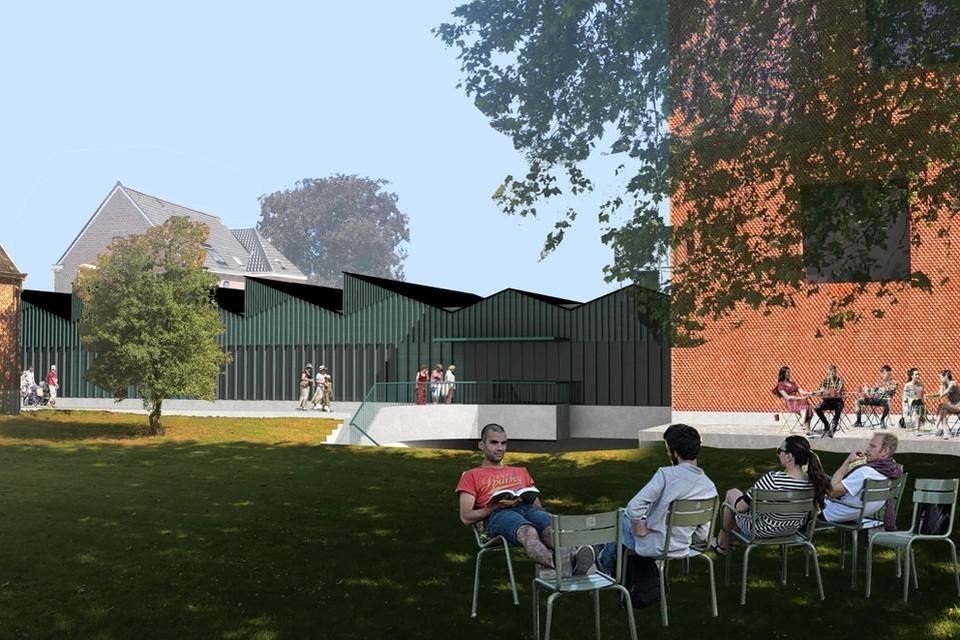 Volgende zomer zullen we nog geen boekje kunnen lezen in de tuin van het nieuw vrijetijdscentrum annex bibliotheek.