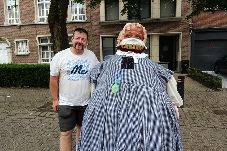 Pascal Lumbeeck van carnavalsvereniging Karnamor was op stap met Mayerke.