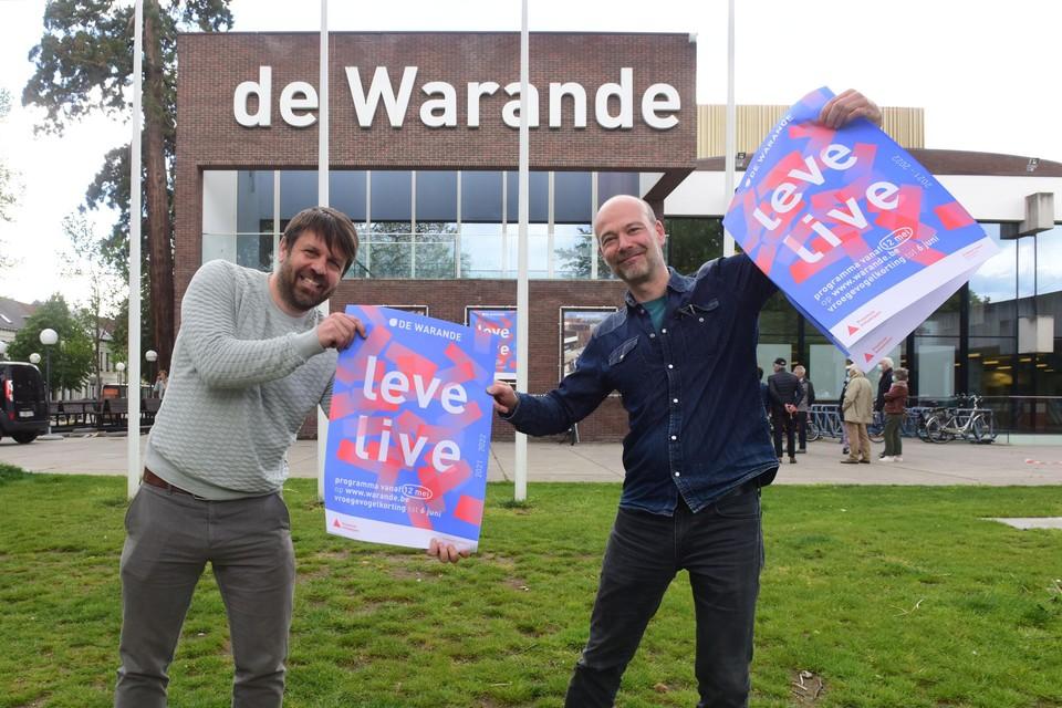 Programmamakers Bert Heylen en Tom Langeloos.