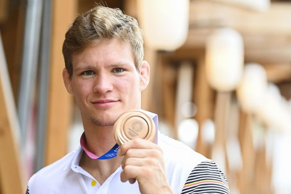 De Antwerpenaar Matthias Casse is trots op zijn brons. Tot nu toe scoort Vlaanderen stukken beter dan Wallonië.