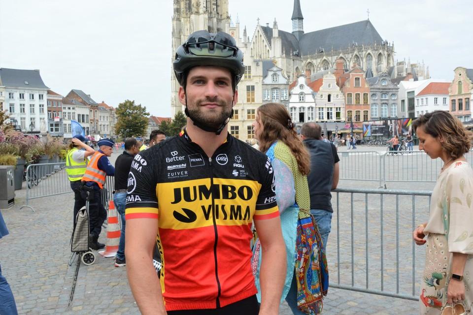 Melvin fietste van Antwerpen, via Mechelen, naar Leuven.