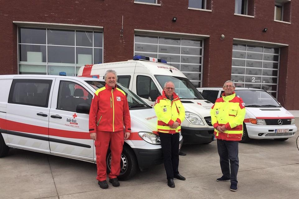 Ondervoorzitter Geert Gabriëls, voorzitter Ronny Henin en oud-voorzitter Wilfried De Keyser.