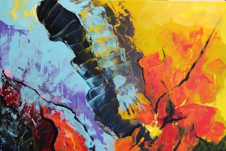 Een abstract werk van Paul Nouwkens.