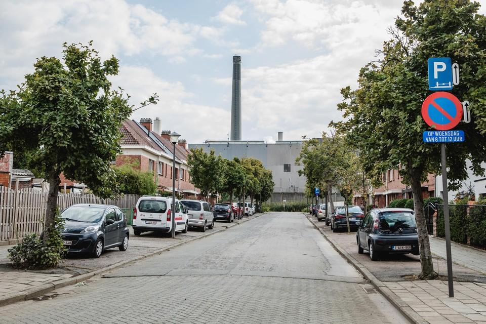 De wijk Moretusburg naast het bedrijf Umicore.