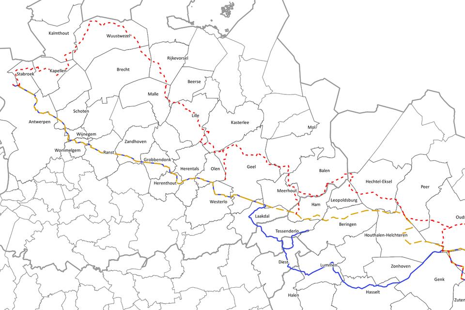 Tracé Noord maakt een wijde bocht door Wuustwezel.