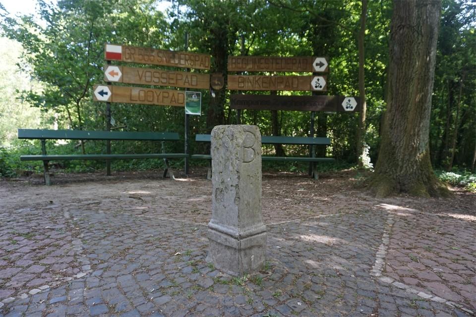 De Looypaal, waar Turnhout, Vosselaar en Beerse aan elkaar grenzen.