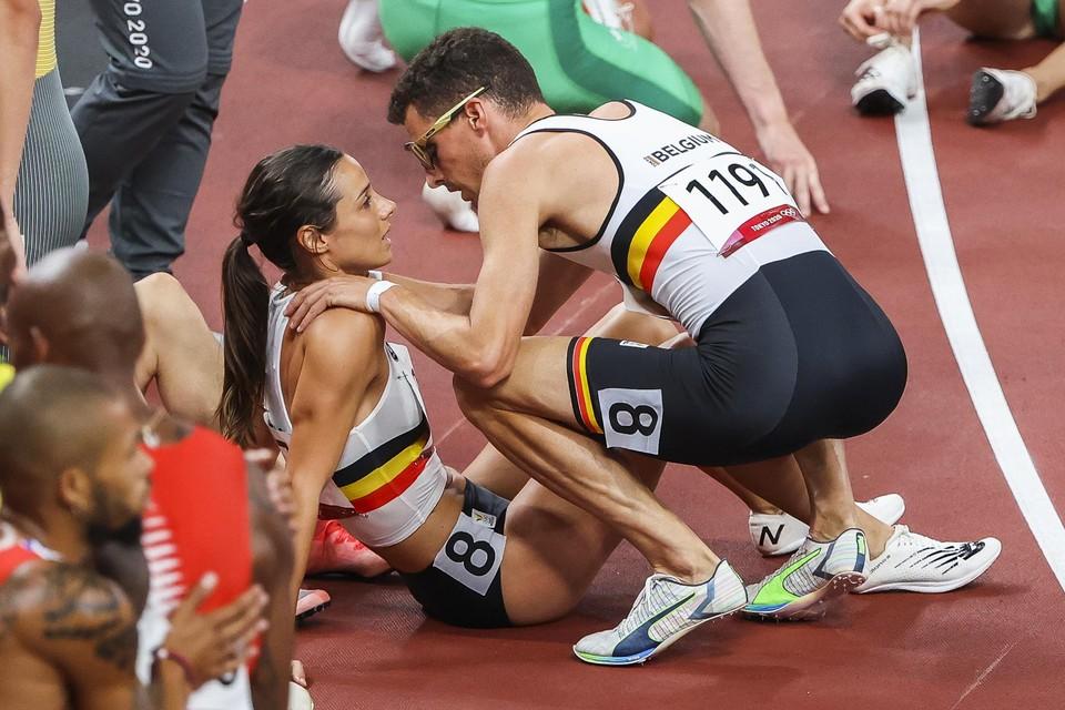 Geen medaille voor de Belgen.