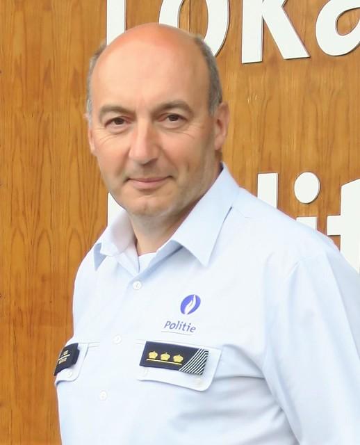 Jan Vissers, korpschef in Schoten