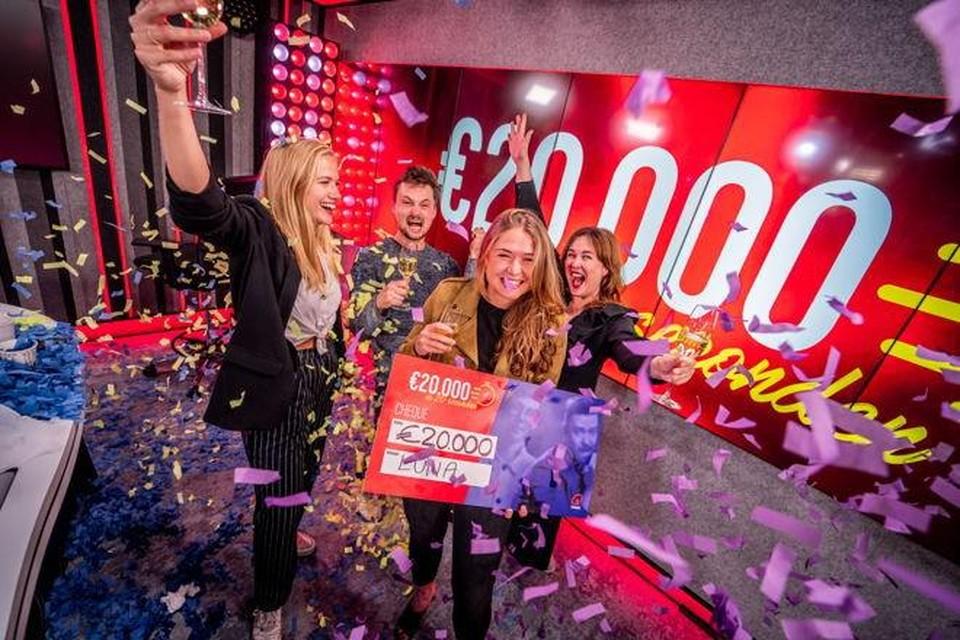 Qmusic-luisteraar Luna won vrijdag 20.000 euro.
