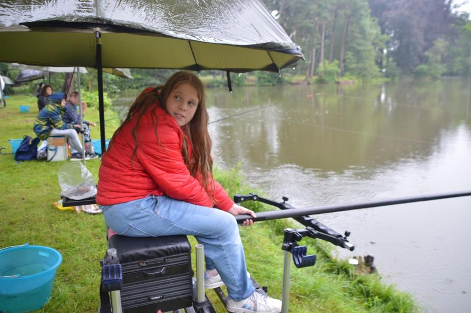 Elena Bouwsma met de vaste stok.