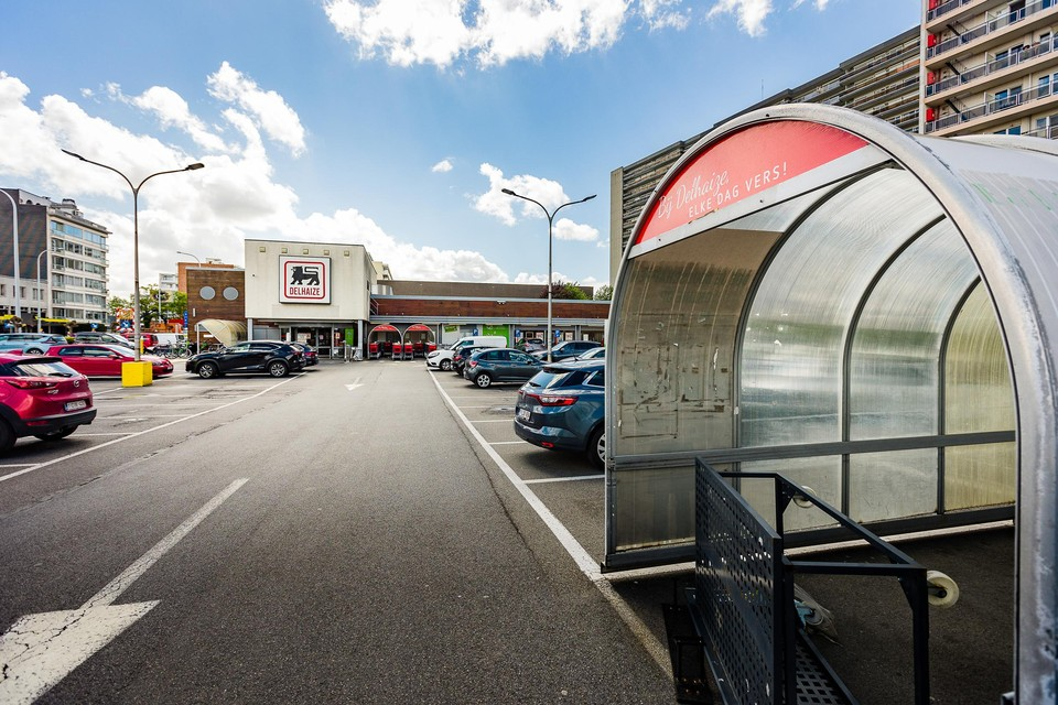 De verouderde supermarkt van Delhaize in de Oscar Van Kesbeeckstraat wordt nog dit jaar afgebroken.