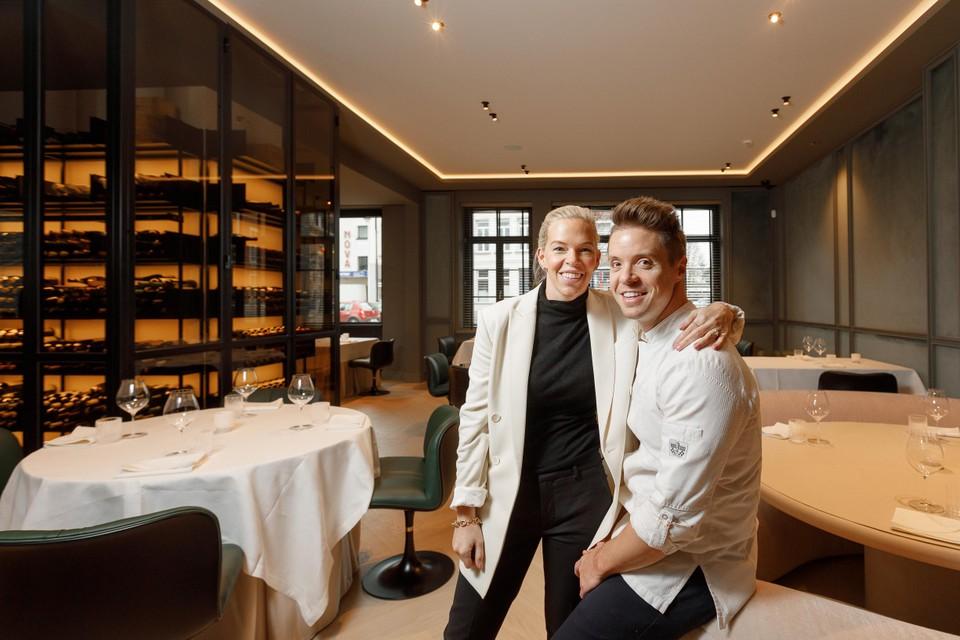 Sofie Willemarck en Thierry Theys van restaurant Nuance in Duffel.