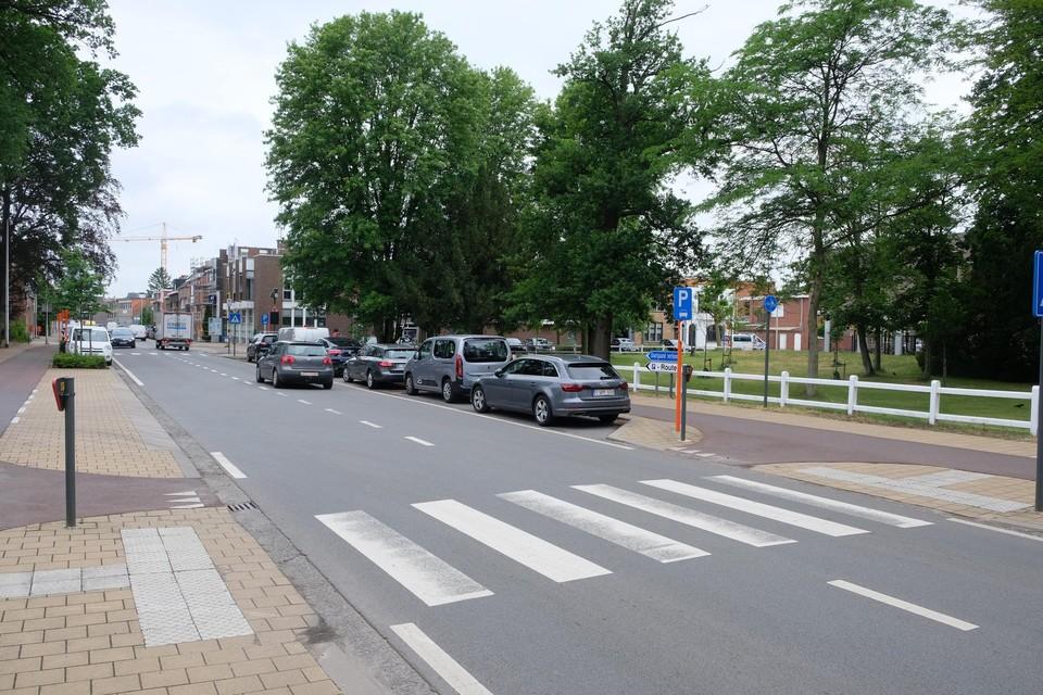 Het zebrapad aan de Christiaan Pallemansstraat.