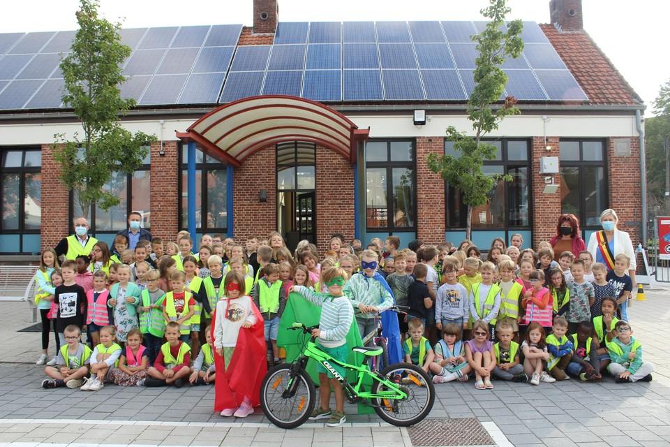 De leerlingen van GBS Eindhout zijn fan van Bike2School.