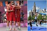 thumbnail: In het verleden werd het 3X3-basketbal al eens georganiseerd op de Groenplaats. Hier op foto in 2013.