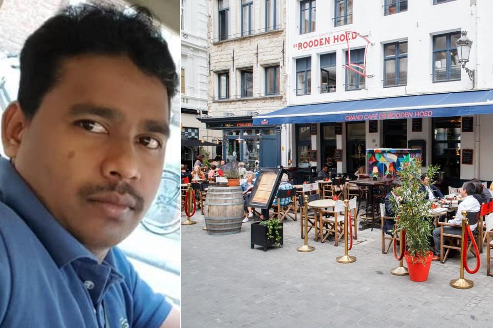 Vikkie (36) werkte als kok in Grand Café De Rooden Hoed in Antwerpen.