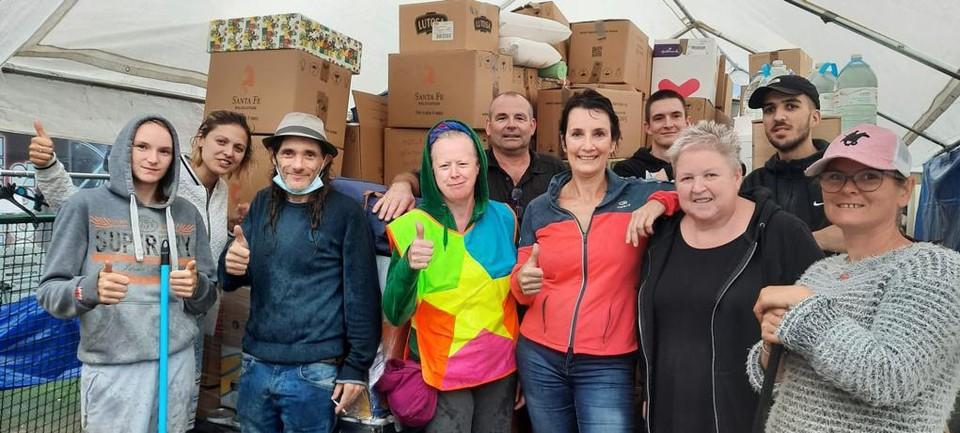 Aartselaarse en plaatselijke medewerkers in Barvaux