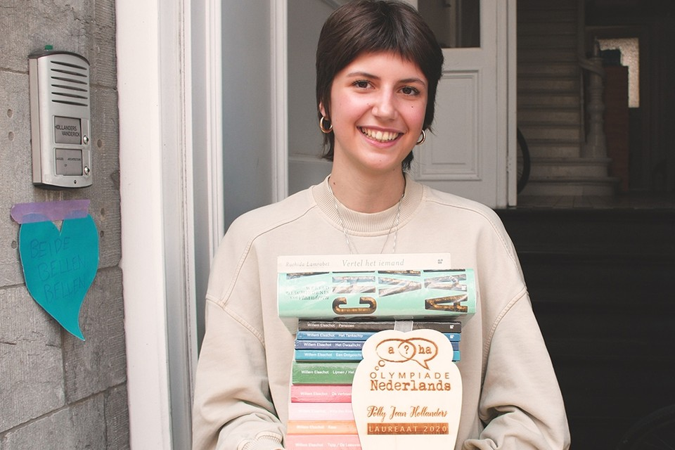 Polly Jean Hollanders kreeg de prijs aan haar deur geleverd.