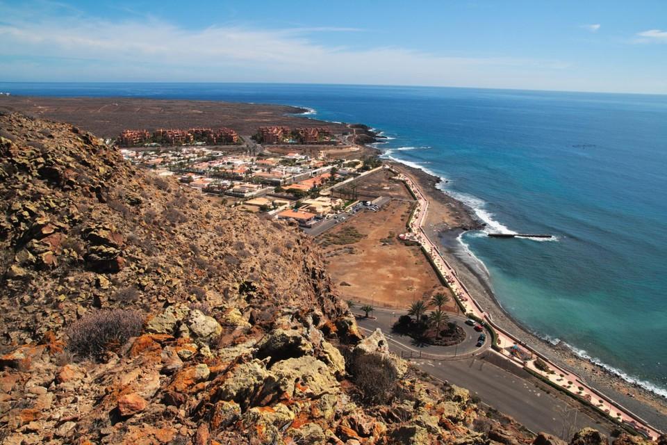 Een strand op Tenerife.