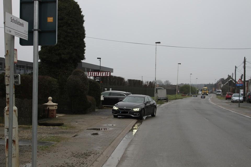 De Schollebeekstraat wordt smaller en krijgt vijf asverspringingen.