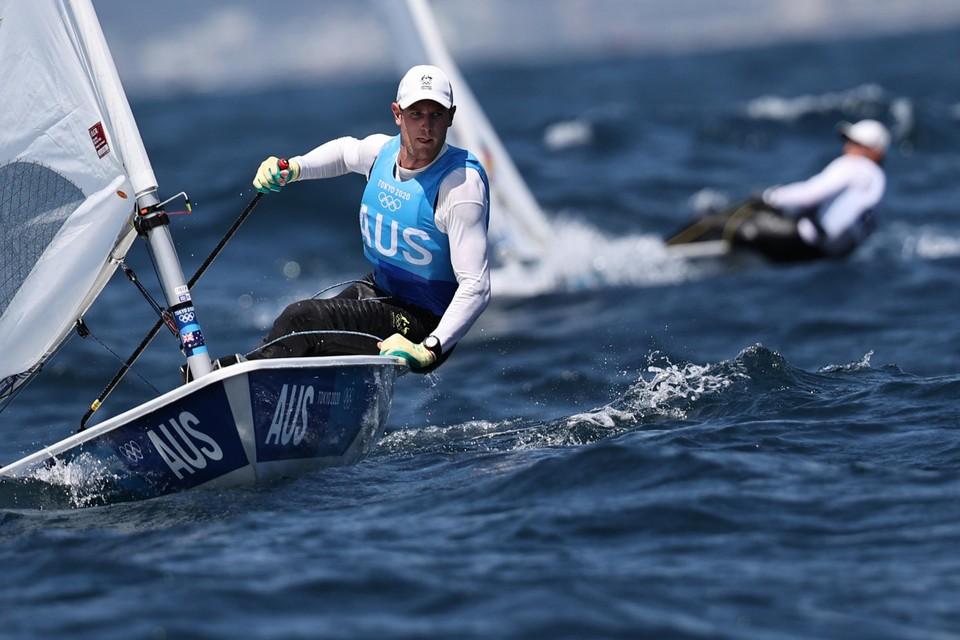 De Australiër Matthew Wearn blies de tegenstand weg in de Laser-klasse, het goud is al binnen.