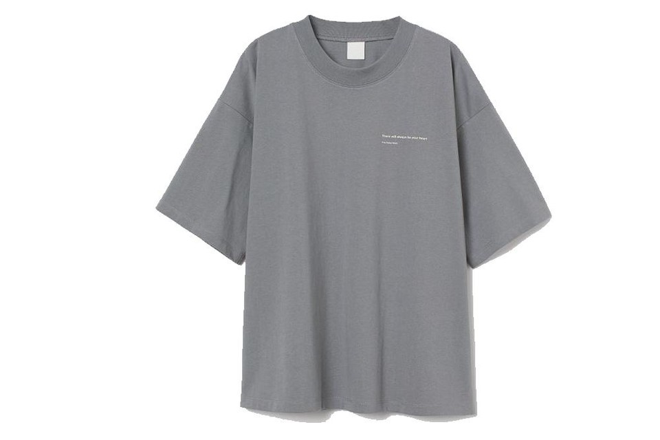 Shirt met opschrift 'There will always be your heart' - H&M - 14,99 euro