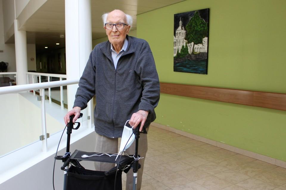 Fons Eysermans is op zijn 105 nog altijd een spraakwaterval.