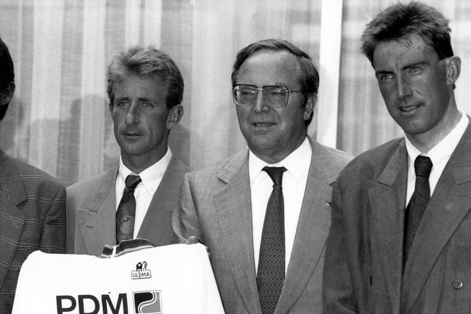 Rudy Dhaenens (links) en Dirk De Wolf (rechts) stonden in 1990 samen op het podium in Japan.