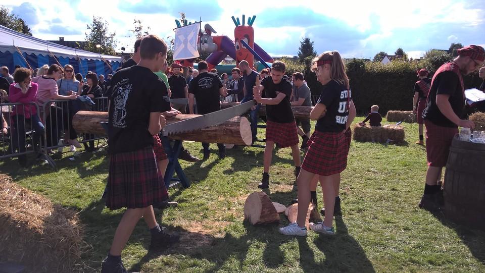 Steeds meer vrouwen en gemengde teams op Highlandgames.