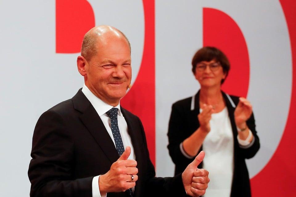 SPD'er Olaf Scholz eiste het kanselierschap al op.