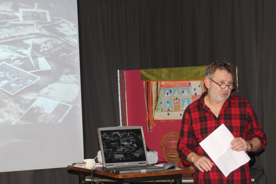 Een vorige editie van de Pecha Kucha-avond met spreker Rudi Leys.
