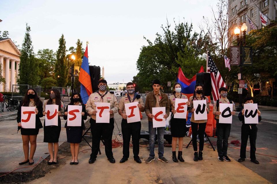 Jonge Armeniërs in Washington DC steken Joe Biden hart onder de riem