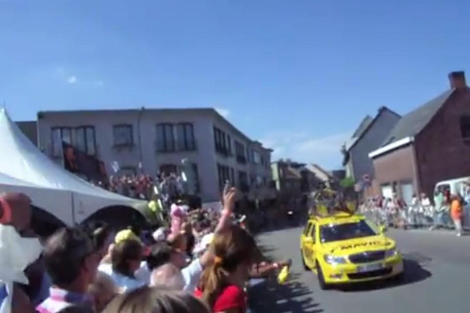 Een beeld van de passage van de Tour De France in 2010 met veel sfeer en ambiance. Dit willen ze in Kontich nog eens overdoen met het WK.