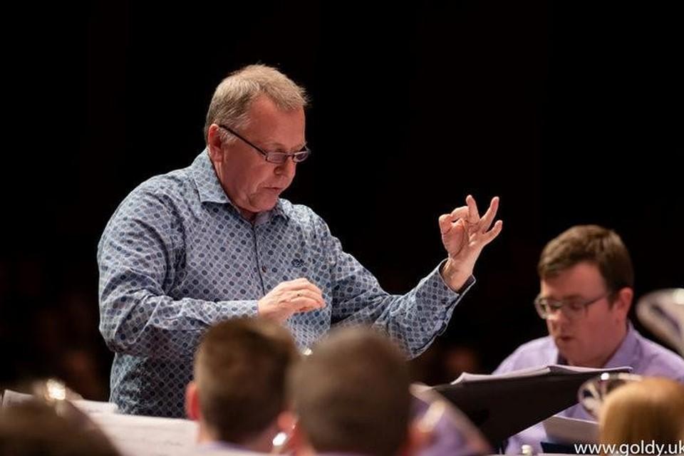 Dirigent en oprichter Frans Violet van Brass Band Willebroek.
