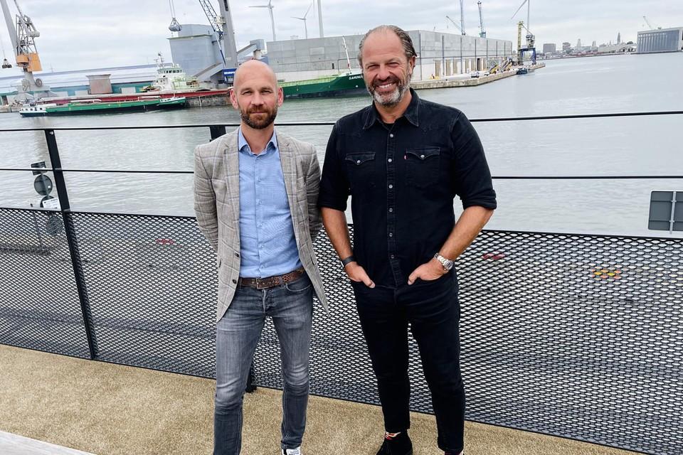 CCO Ken Joris en CEO Guy Pasmans van Manuport Logistics.