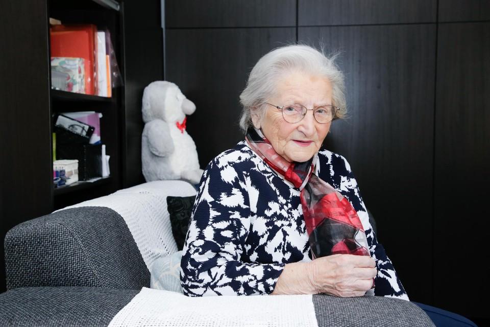 Iliana Fortini thuis bij zoon Ricardo in Zandvliet. Ze vierde er haar negentigste verjaardag.