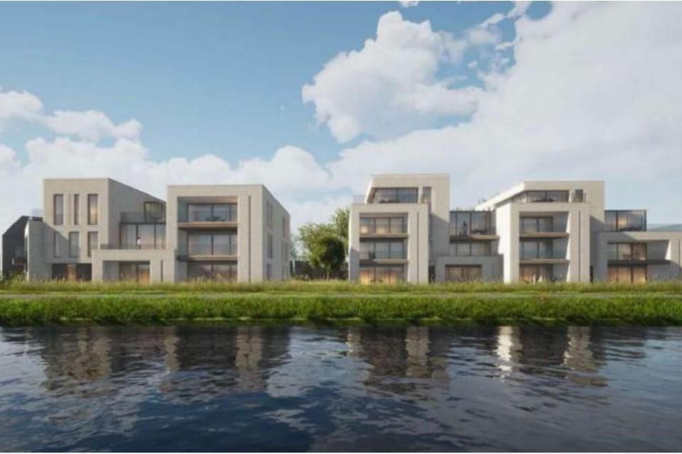 Zo zou het project op het einde van de Rundvoortstraat eruit zien.