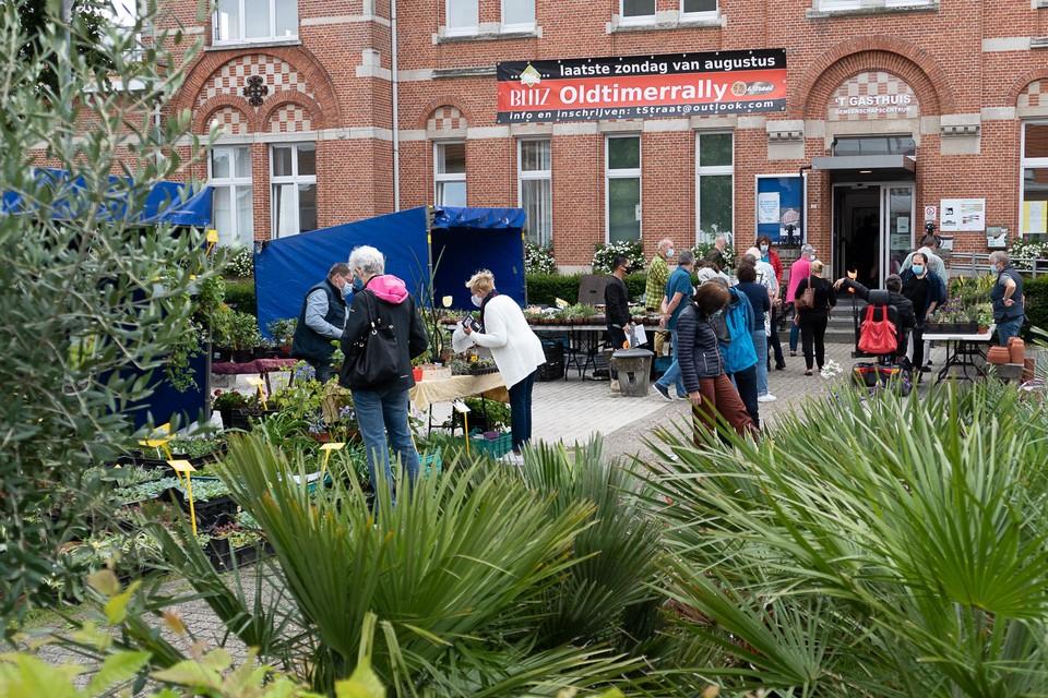 In en buiten 't Gasthuis waren zaterdag exotische planten in al hun verscheidenheid.