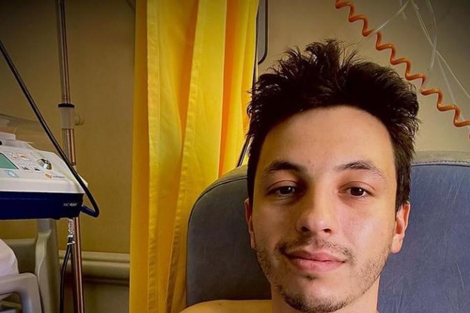 Junior Planckaert lag vier dagen in het ziekenhuis.