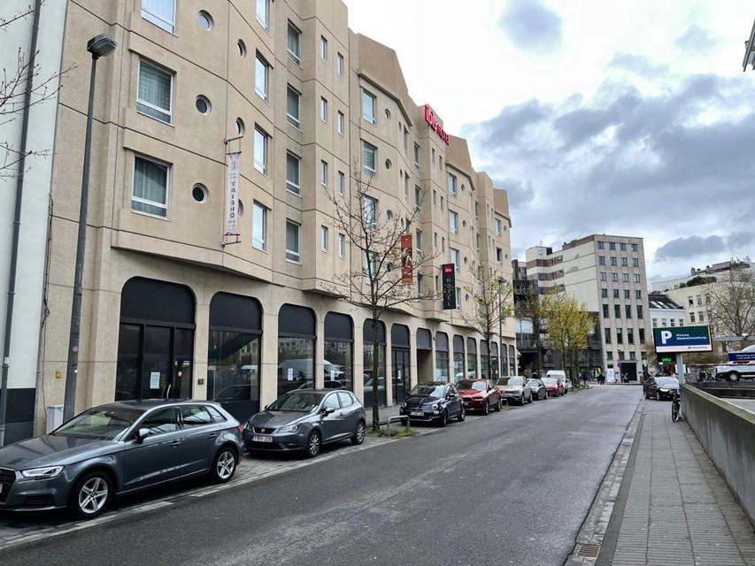 Het hotel in de Meistraat in Antwerpen, aan het Theaterplein.