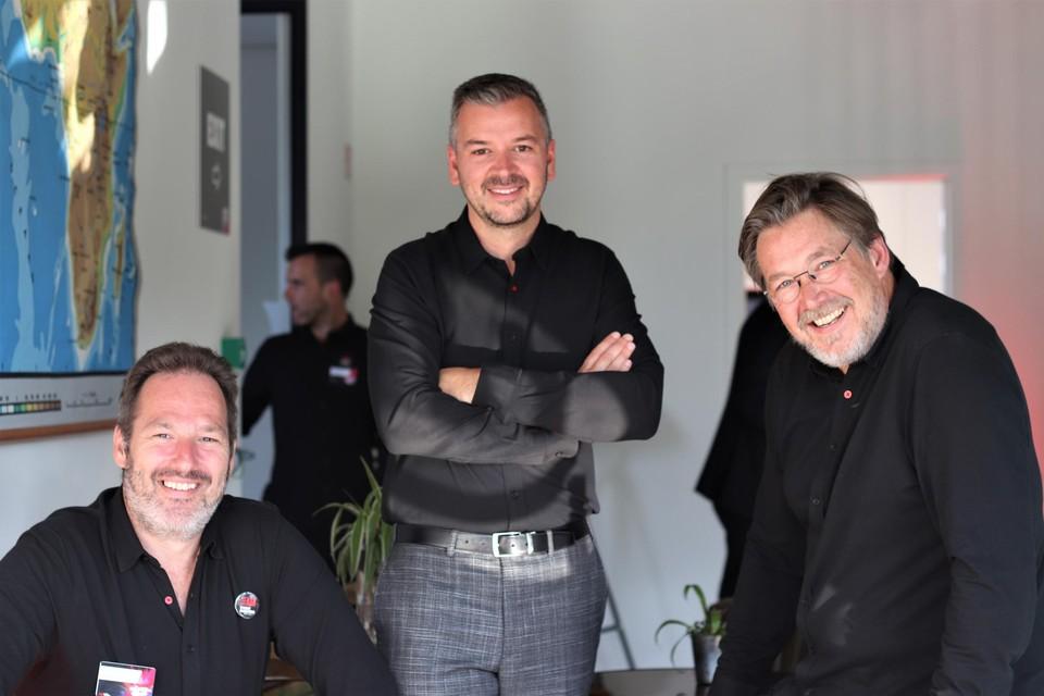 Johnny Machiels, Bert Knuts en Olivier Meyskens, de managing partners van Event Masters