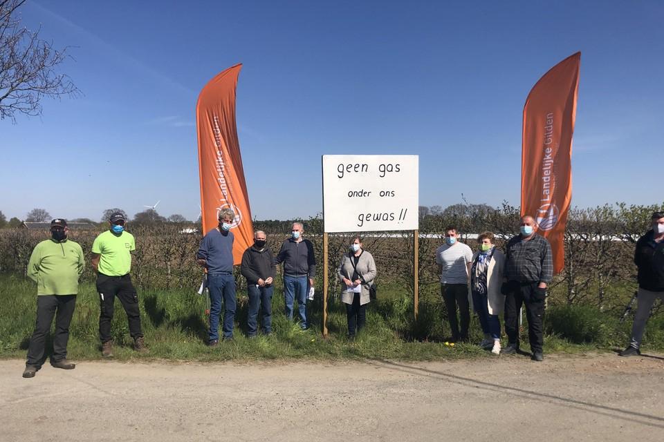 Onder meer in Herentals werd tegen de geplande leidingstraat geprotesteerd.