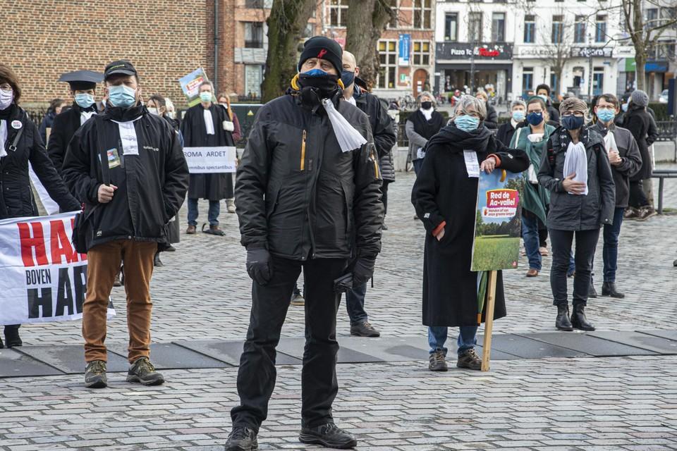 """Ook de actie van de klimaatadvocaten in maart was niet toegelaten. """"Daar waren veel PVDA'ers bij."""""""