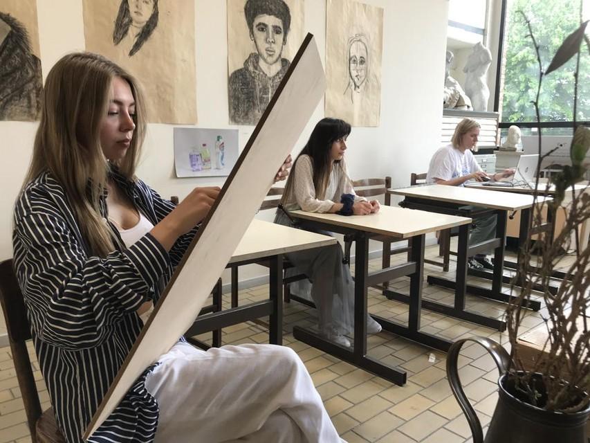 In het Hofke van Chantraine wordt ook ander werk van de leerlingen getoond.