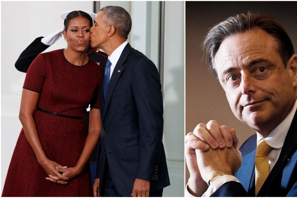Michelle en Barack Obama, op de dag van de inauguratie van Donald Trump als nieuwe Amerikaanse president.