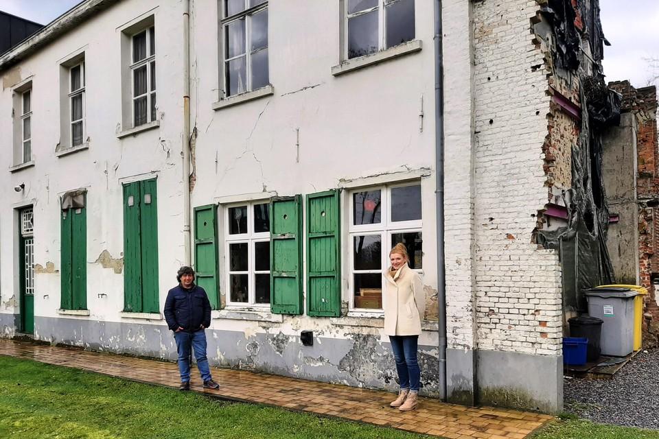 Cultuurschepen Jan Melis en burgemeester Nele Geudens