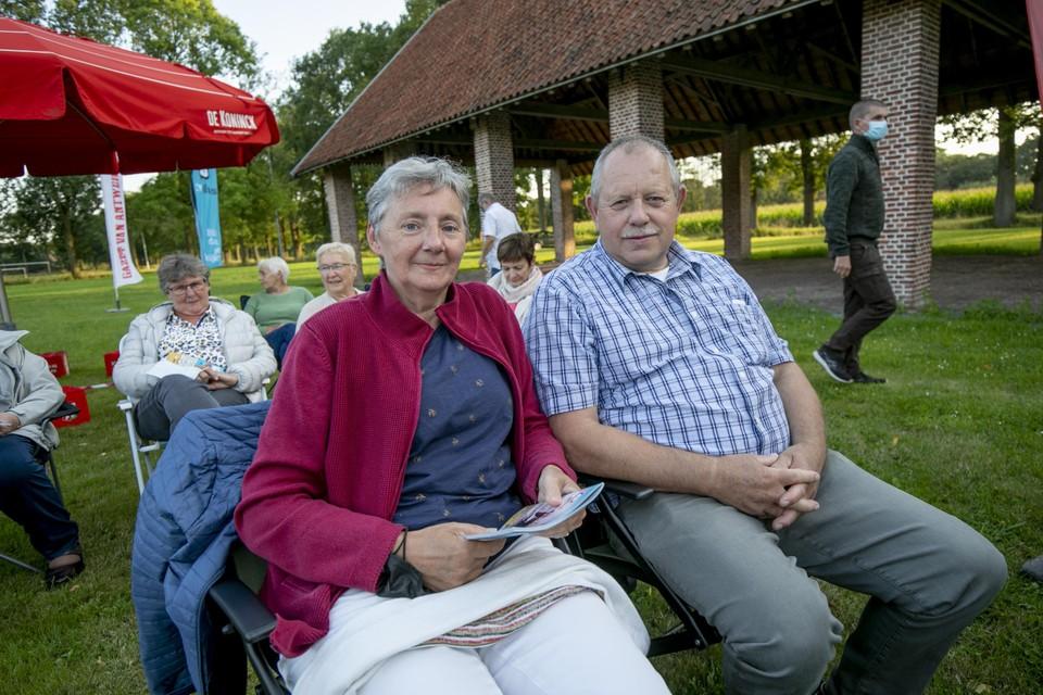 """Herman Druyts en Agnes Hermans uit Rijkevorsel: """"Ik vond Nigel heel goed. Hij speelt goed in op wat het publiek zegt. Dit was zeker voor herhaling vatbaar."""""""